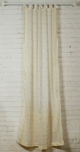 White Curtain, Bridal backdrop, Cream Ivory and Silver accents, SARI Curtain, 84