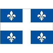 Quebec Province 4 Fleur De Lis Flag Sticker (canada canadian decal)