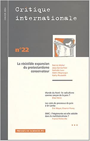 Téléchargement Critique internationale - n°22 - Janvier 2004 pdf ebook