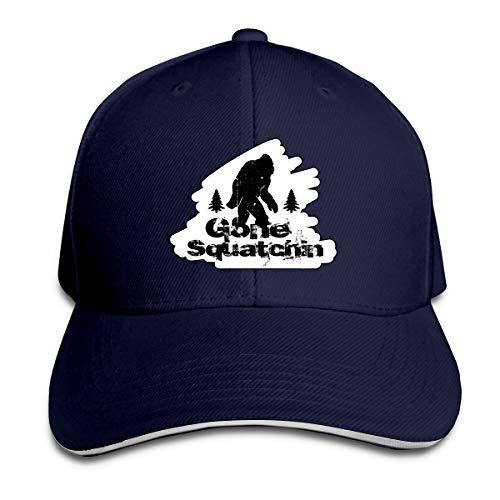IEHFE MCNXB Bigfoot Gone Squatchin Casual Men/Women Trucker Hat Adjustable Peaked Sandwich Hat Baseball Cap