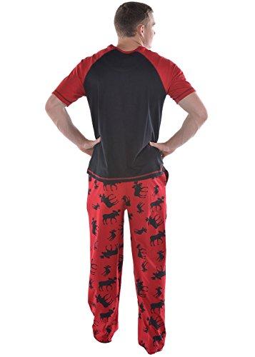One Chándal para hombre Lazy algodón de costura para pantalón Rojo
