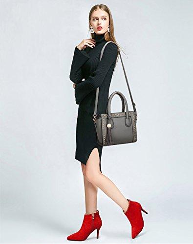 Gris Tisdaini à Sac Sac Mode Femme Nouveau Main Simple Femme Besace bandoulière Sac f7xfUwqy4S