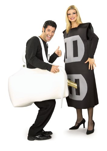 Rubie's Men's Set Of 2 Costumes: Plug & Socket, As Shown, One -