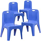 Flash Furniture 4 Pack Blue Plastic Stackable