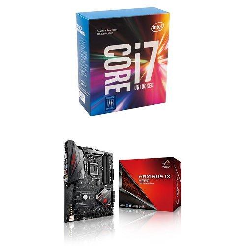 Intel 7th Gen Intel Core Desktop Processor i7-7700K (BX80677I77700K) & ASUS LGA1151 DDR4 DP HDMI M.2 USB 3.1 ATX Motherboard...