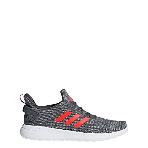 adidas Men's Lite Racer BYD Running Shoe, Grey Five/Solar red/White, 9.5 M US