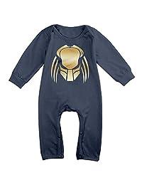Predator Gold Logo Newborn Baby Girls Boys Romper