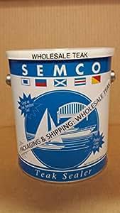 Teca Semco sellador 1Gallon sellador pantalla–elegir de oro/claro/Natural/Marrón/miel tono finish-packaged & se envía por wholesaleteak # whaxsmpr