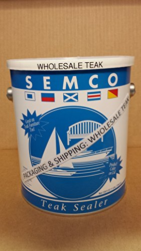 Semco Teak Sealer 1 Gallon Natural Sealant Protector -Natural Tone Color-Packaged & Shipped by WholesaleTeak #WHAXSMN