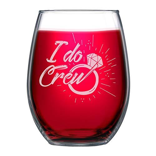 - NeeNoNex I Do Crew Stemless Wine Glass ~ Bridesmaid Proposal ~ Bachelorette Party Favor