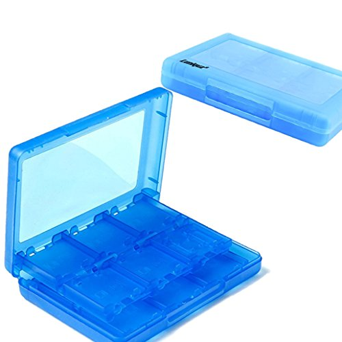 (Luniquz 26 in 1 DS Game Holder Game Card Carry Case for Nintendo DS, DS Lite, 3DS, New 3DS, Dsi, Dsi XL/Blue)