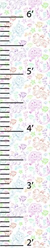 (Larger Than Life Prints 736846600820 Mermaids Growth Chart for Kids, Multi-Color)