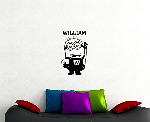 Minion Custom Name Wall Decal Comedy Film Cartoon