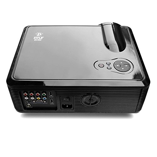 Pyle home prjle33 portable led projector for gaming tv for Best portable projector for movies
