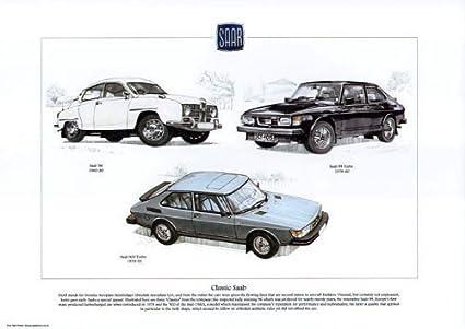 Saab, 99, 9000 Turbo, COCHE clásico (A3) 40,64 cm