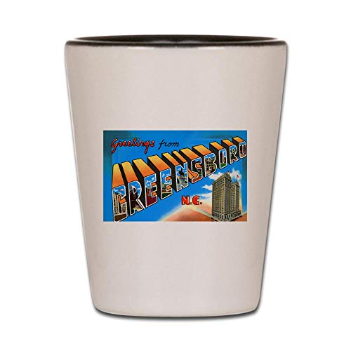 CafePress Greensboro North Carolina Greetings Shot Glass, Unique and Funny Shot Glass