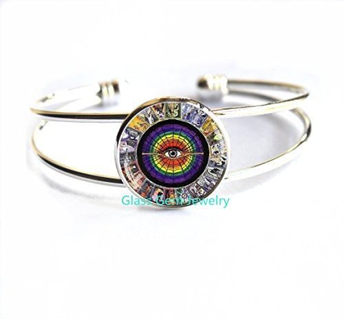 Tarot Cards Bracelets, Tarot Card Bracelet, Alchemy Jewelry, Wiccan Jewelry, Tarot Bracelet, Metaphysical Jewelry, Mystic Tarot Locket Keychain,Q0035