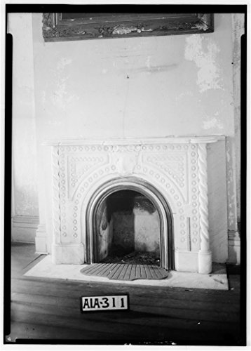 8 x 12 Photo 6. Historic American Buildings Survey Alex Bush, Photographer, March 26, 1935 Fireplace in Front Parlor - Rocky Hill, State Highway 20, Courtland, Lawrence County, AL 1899 36a by Vintography
