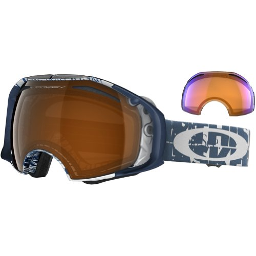 Oakley Airbrake Snow Goggle, Tagline with Black and HI Persimmon Lens