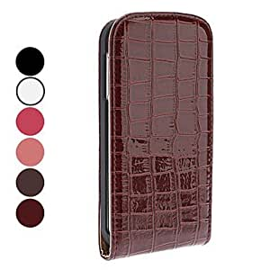 Crocodile Lines PU Leather Case for Samsung Galaxy S4 I9500 , White