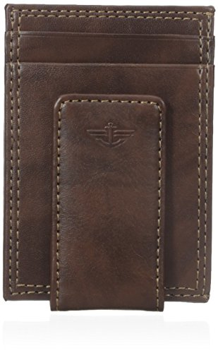 Dockers Men's Slim Money Clip Wallet,Brown,One Size