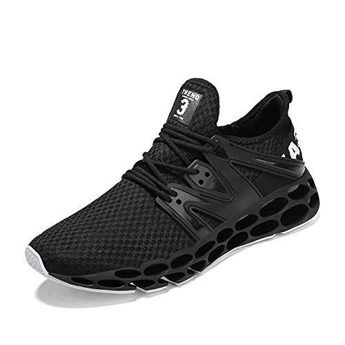 Athletic GOMNEAR Sneaker Outdoor Mens Running Shoes Walking Trainers Black Lightweight IrvSI