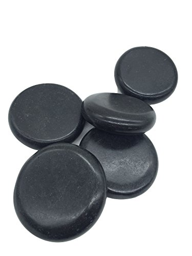 Zabrina 5 PCS Personal Massage Stone Set Basalt Hot Rocks Stones 3.14 In * 3.14 In