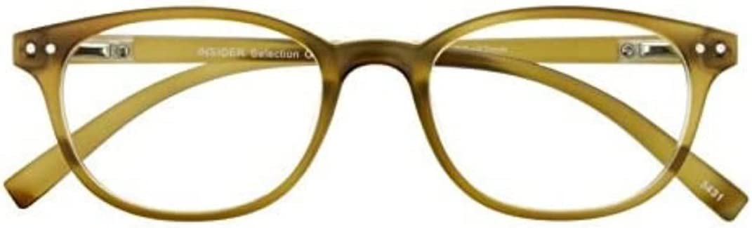 I NEED YOU Readers Insider Select Retro Design Reading Glasses +3.0 Brown