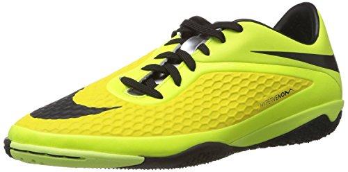 Nike Men's Hypervenom Phelon IC Soccer Cleat Vibrant Yellow/Metallic Silver/Volt Ice/Black 10.5