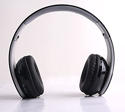 Bluetooth Headphones: Headset Wireless 4.0 Foldable Folding Stereo Earphones with Noise Reduction Microphone & Rechargeable Battery for All Android Smart Phones iPhone 6, 6S, 6 Plus, 5S, 5C, 5, 4S,