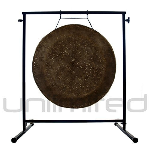 22'' Mother Tesla Gong on the Fruity Buddha Gong Stand by Gongs Unlimited