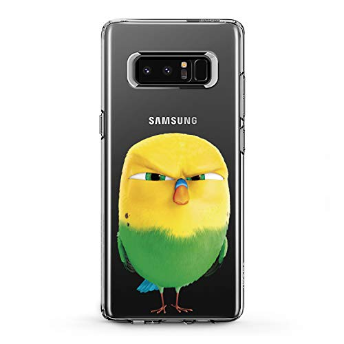 Lex Altern TPU Case for Samsung Galaxy A9 A8s A8 A7 A6s A5 A70 A50 Crazy Bird Design Green Flexible Bright Soft Slim Fit Print Clear Smooth Yellow Gift Lightweight Cover Moody Character Birdies