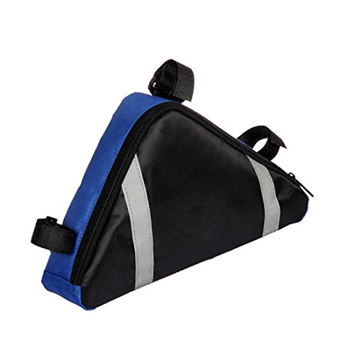 Bike Storage Bag Triangle Saddle Frame Strap On Pouch for Cycling
