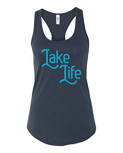 - Panoware Women's Summer Tank Top   Lake Life, Indigo, X-Large