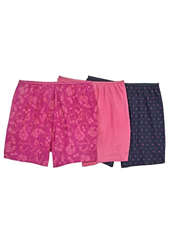 Comfort Choice Women's Plus Size 3-Pack Cotton Boxer - Paisley Heart Pack, 8