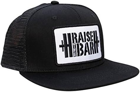 Elevar el bar – Negro – Flat Bill Snapback Gorra con Levantamiento ...
