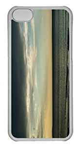 Customized iphone 5C PC Transparent Case - Dark Sea And Sky Personalized Cover