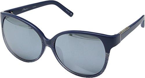 3.1 Phillip Lim Women's PL174C5SUN Blue/Navy Glitter/Silver Mirror - Lim Glasses Phillip