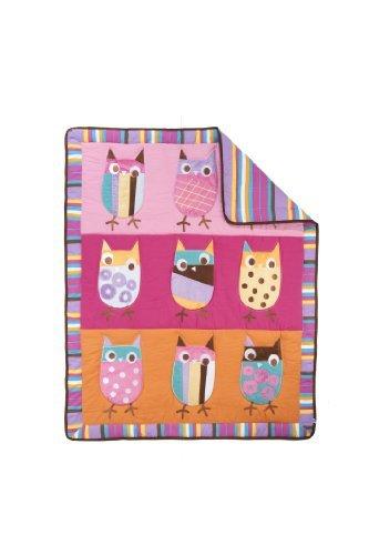 Zutano Crib Set, Owl Bright, 4 Piece [並行輸入品]   B07CTFT1RV