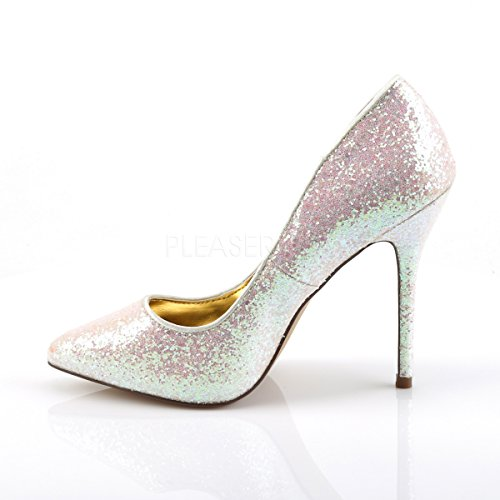 PleaserUSA High Heels Glitter-Pumps Amuse-20G Rose Multi Rose Multi