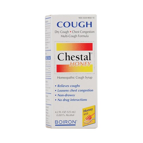 Chestal Cough Syrup (Boiron Adult Chestal For Cough Honey, 4.2 oz)