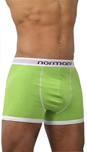 4 x Herren Unterwäsche Boxershorts original normani® Exclusive Farbe Retro/Grün Größe M