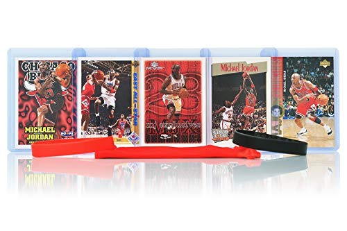 - Michael Jordan MJ (5) Assorted Basketball Cards Bundle - Chicago Bulls Trading Cards - MVP # 23