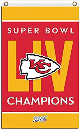 ReddingtonFlags Kansas City Chiefs Super Bowl LIV Champions One-Sided Banner 3 x 5 Flag