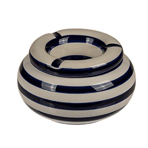 (Gadget and Bazaar Moroccan Beige ashtray - Navy Blue)