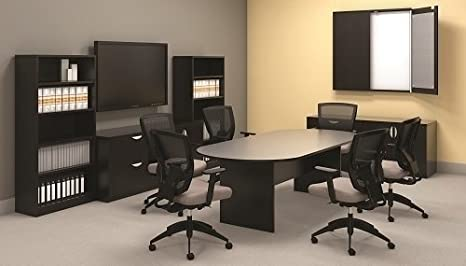 American Espresso Offices To Go 6 Ft Conference Table 71W X 36D X 29 1//2H One Piece Top Slab Base
