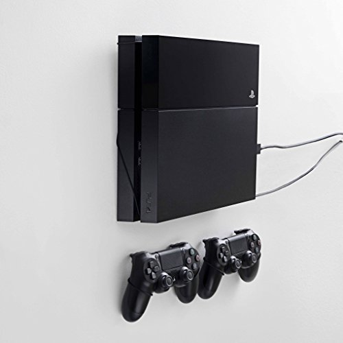 for PS4 original, bundle package for PlayStation 4 and controllers, vertical rope wall mounts (black), Patent pending and proprietary design, Made in Denmark ()