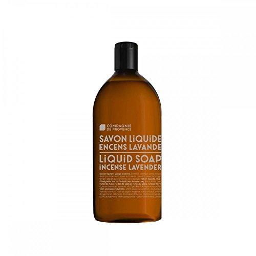 Compagnie de Provence Liquid Marseille Soap Made in France 16.9 fl oz Glass Bottle (Incense Lavender, Refill)