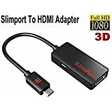 Paddsun Slimport to Hdmi HDTV Adapter Cable - Connect Any Mydp Enabled Mobile Devices to Any 1080p, 3d, 3k Hdtv