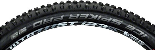 (Schwalbe Ice Spiker Pro HS 379 Studded LiteSkin Folding Mountain Bicycle Tire (Black - 27.5 x 2.25))